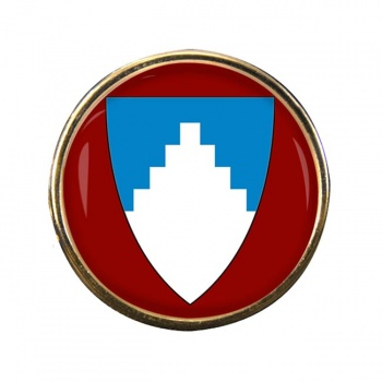 Akershus (Norway) Round Pin Badge