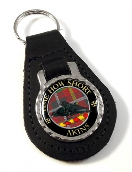 Akins Scottish Clan Leather Key Fob