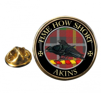 Akins Scottish Clan Round Pin Badge