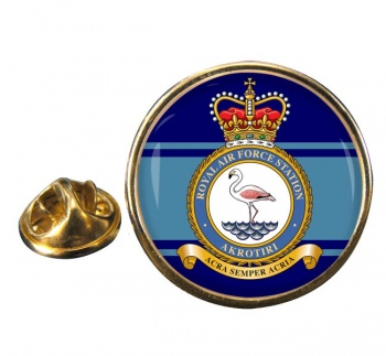 RAF Station Akrotiri Round Pin Badge