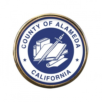 Alameda County CA Round Pin Badge