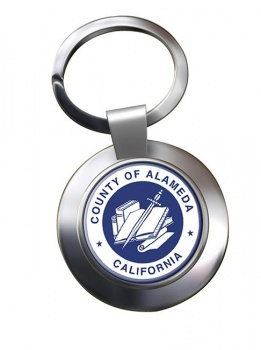 Alameda County CA  Metal Key Ring