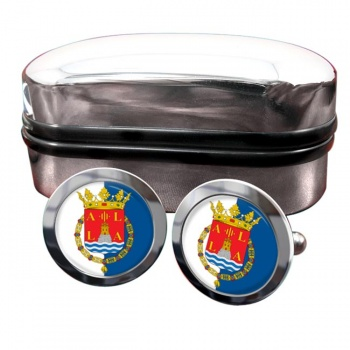 Alicante Ciudad (Spain) Crest Cufflinks