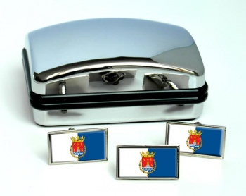 Alicante Ciudad (Spain) Flag Cufflink and Tie Pin Set