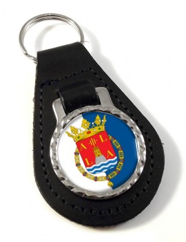 Alicante Ciudad (Spain) Leather Key Fob