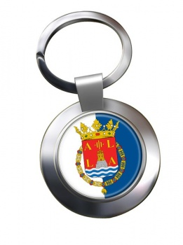 Alicante Ciudad (Spain) Metal Key Ring