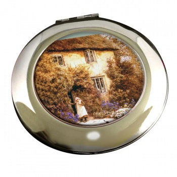 A Cottage Door by Allingham Round Mirror