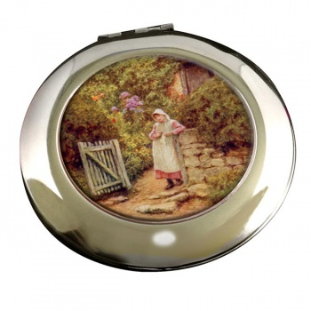 At the Garden Gate by Allingham Round Mirror