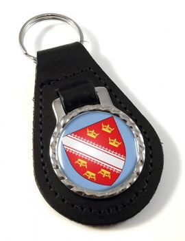 Alsace (France) Leather Key Fob