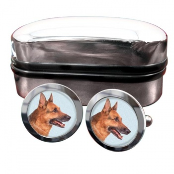 German Shepherd  Round Cufflinks