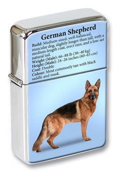 German Shepherd Flip Top Lighter