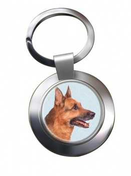 German Shepherd Metal Key Ring