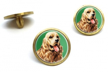 American Cocker Spaniel  Golf Ball Marker Set