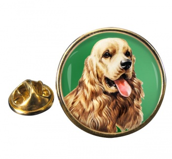 American Cocker Spaniel Round Pin Badge