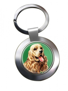 American Cocker Spaniel Metal Key Ring