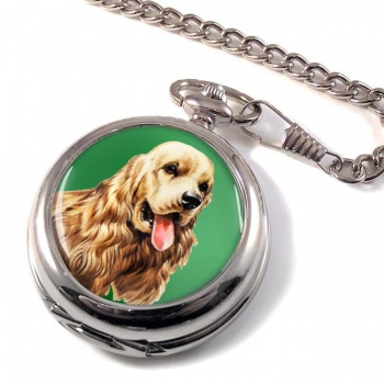 American Cocker Spaniel Pocket Watch