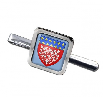 Amiens (France) Square Tie Clip