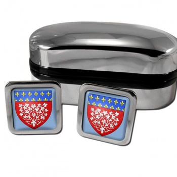Amiens France Square Cufflinks