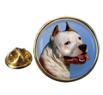 American Staffordshire Terrier Round Pin Badge
