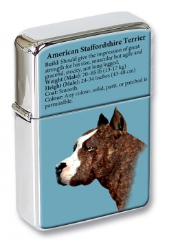 American Staffordshire Terrier Flip Top Lighter