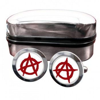Anarchy Round Cufflinks