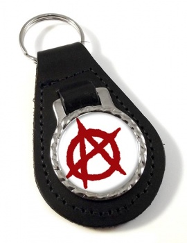 Anarchy Leather Key Fob