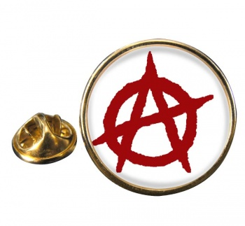 Anarchy Round Pin Badge