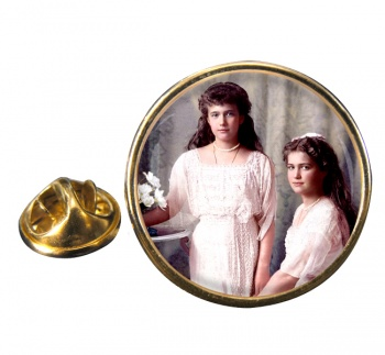 Anastasia and Maria Round Pin Badge