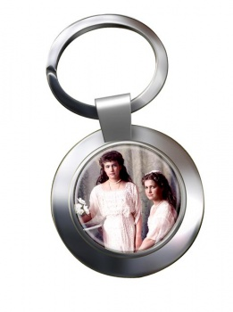 Anastasia and Maria Chrome Key Ring