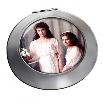 Anastasia and Maria Chrome Mirror
