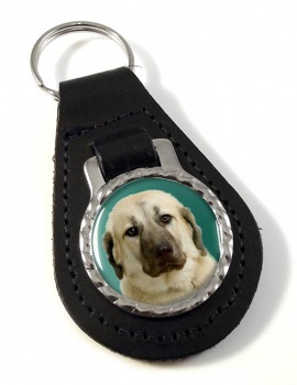 Anatolian Shepherd Leather Key Fob