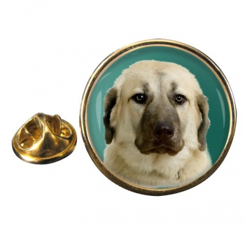 Anatolian Shepherd Round Pin Badge