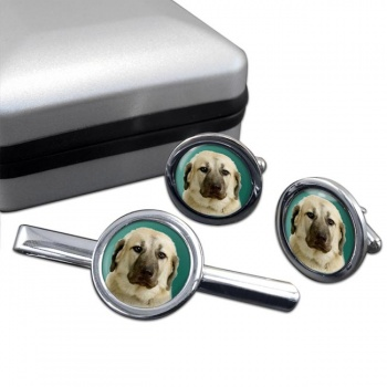 Anatolian Shepherd  Cufflink and Tie Clip Set