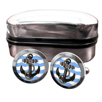 Ship's Anchor Round Cufflinks