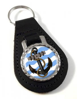 Ship's Anchor Leather Keyfob