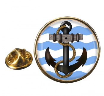 Ship's Anchor Round Lapel