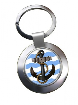 Ship's Anchor Chrome Key Ring