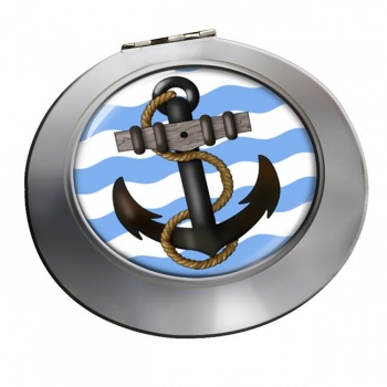 Ship's Anchor Chrome Mirror
