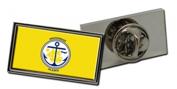 Anchorage AK  Flag Pin Badge