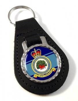 RAF Station Andover Leather Key Fob