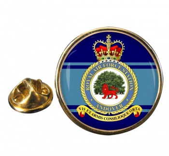 RAF Station Andover Round Pin Badge