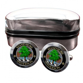 Anderson Scottish Clan Round Cufflinks