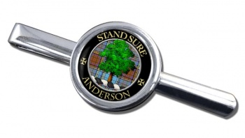 Anderson Scottish Clan Round Tie Clip