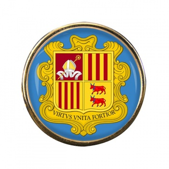 Andorra Round Pin Badge