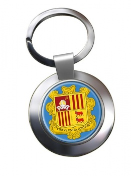 Andorra Metal Key Ring