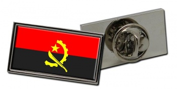 Angola Flag Pin Badge