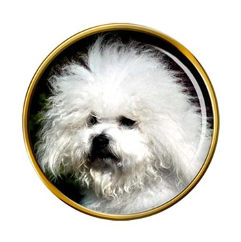 Bichon Bolegnese Dog Pin Badge