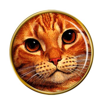 Cat Face Pin Badge
