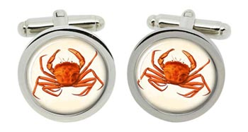 Crab Cufflinks in Chrome Box