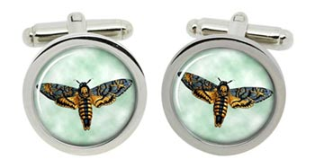 Death's-head Hawkmoth Cufflinks in Chrome Box